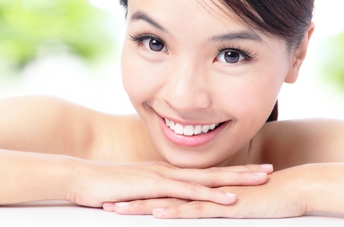 healthy skin asian woman M