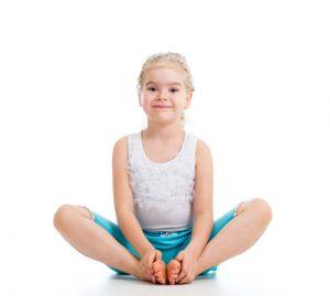 yoga butterfly kid