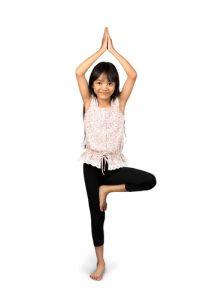 yoga tree pose kid