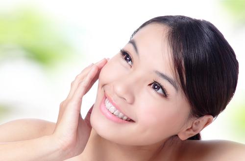 healthy skin and hair asian woman