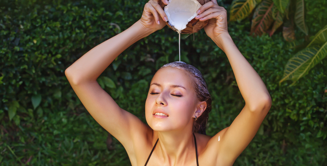 coconut milk-hair
