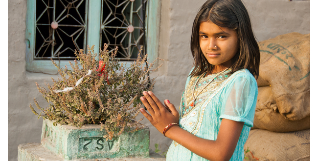 girl praying-holy basil