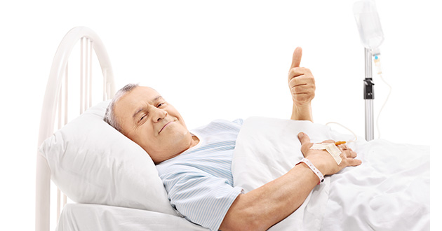 hospitalized old man recovering-630