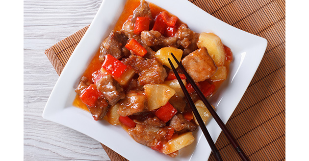 sweet and sour pork with pineapple-630