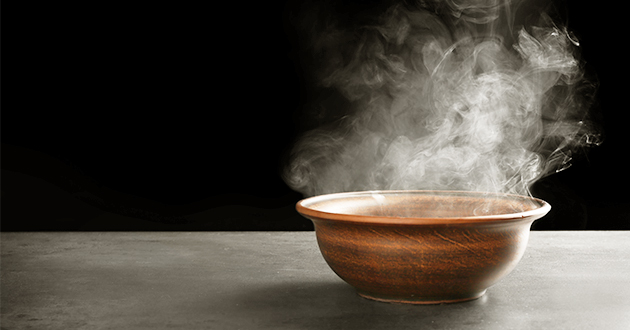 hot water in bowl-630