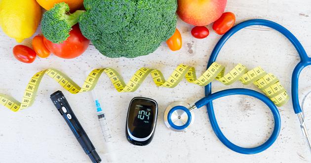 veges & glucose meter-630