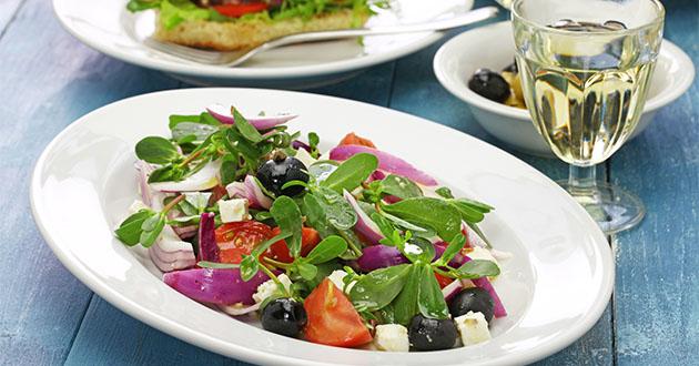 スベリヒユのサラダ