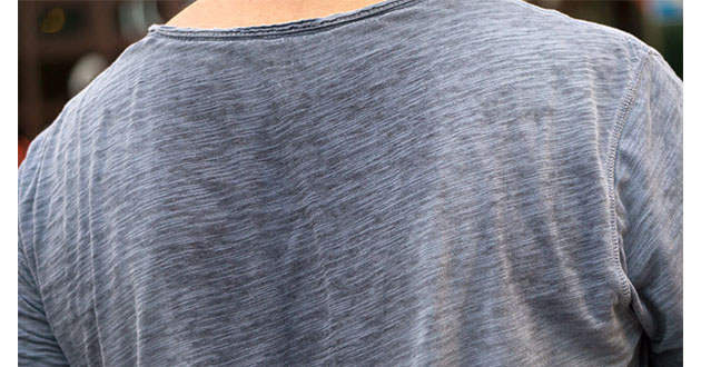 sweating on back-630