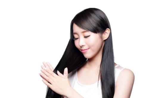 beautiful skin&hair asian woman