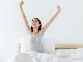 waking up after good night sleep