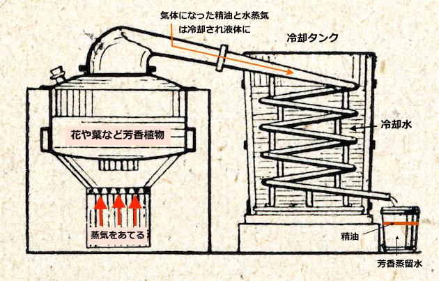 エッセンシャルオイルの作り方-水蒸気蒸留法