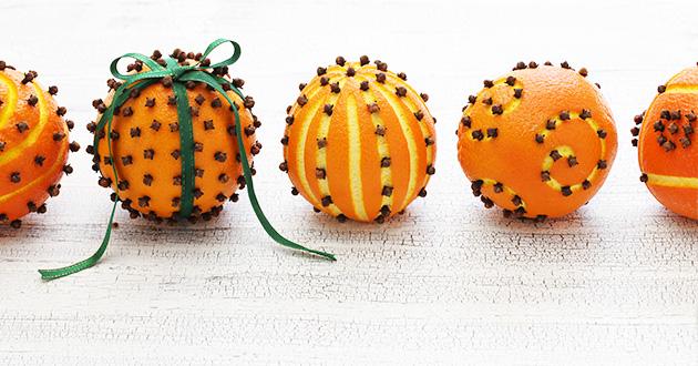 エッセンシャルオイルを使って作るオレンジ ポマンダー