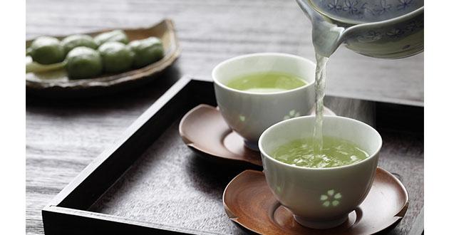L-テアニンは、緑茶などお茶に含まれているアミノ酸のひとつ