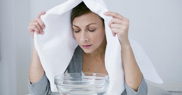 蒸気吸入は呼吸器の症状緩和に効果的
