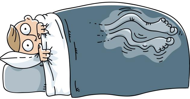 ベッドに入ると脚がむずむずしてくる脚むずむず症候群restless leg syndrome-630