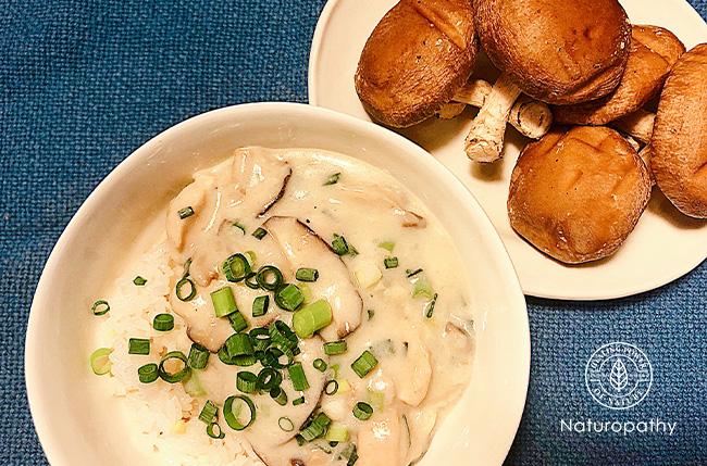 椎茸の和風クリーム丼