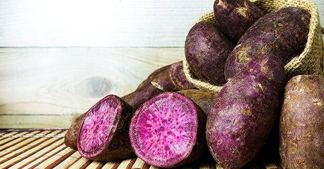 アントシアニンやフラボノイド豊富な紫さつま芋