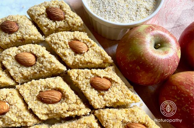 【セモリナりんごケーキ】~りんごの季節が終わる前に食物繊維たっぷりスイーツ~