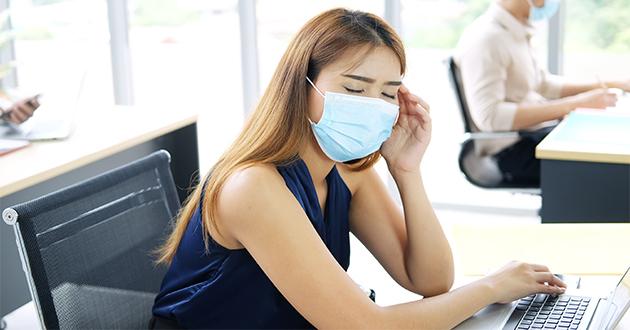 マスク着用による肌荒れが気になる