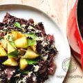 胃に優しく体が温まる 西洋カブ「ターニップ」の黒米リゾット
