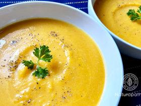 胃腸に優しいカボチャスープ