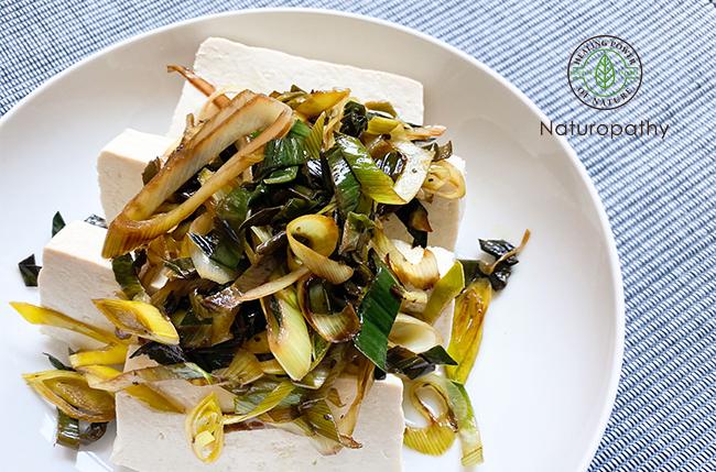 春のデトックス時期に体を温めて体質改善:温豆腐の西洋ネギソース