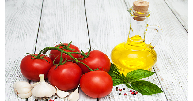 tomatoes, olive oil, garlic