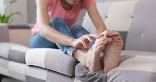woman itchy toes