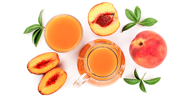 peaches and juice
